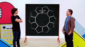 ¿Cómo renovar el piso del estudio usando patrones matemáticos?  (ángulos interiores y exteriores de polígonos regulares)