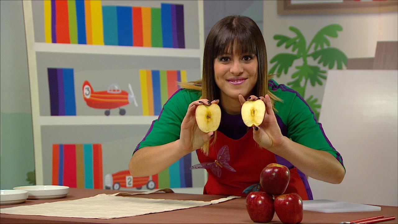 Pintando con manzanas